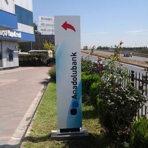 Anadolubank Totem - Fiyat Panosu - Dev Amblem
